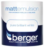 Berger Vinyl Matt 1L - Pure Brilliant White